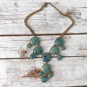 Bubble Statement green stone Necklace